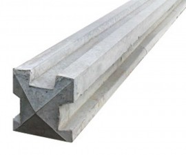 Slotted Concrete Post 3-WAY