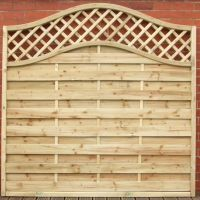STRAIGHT PANEL with TRELLIS & OMEGA Top